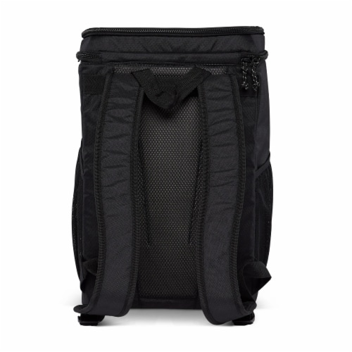 Igloo REPREVE Portable Outdoor Insulated Soft Side Backpack Cooler Bag, Black Perspective: top