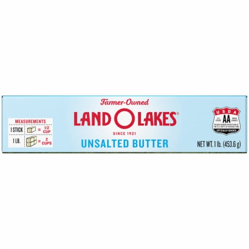 Land O' Lakes Unsalted Butter Sticks Perspective: top