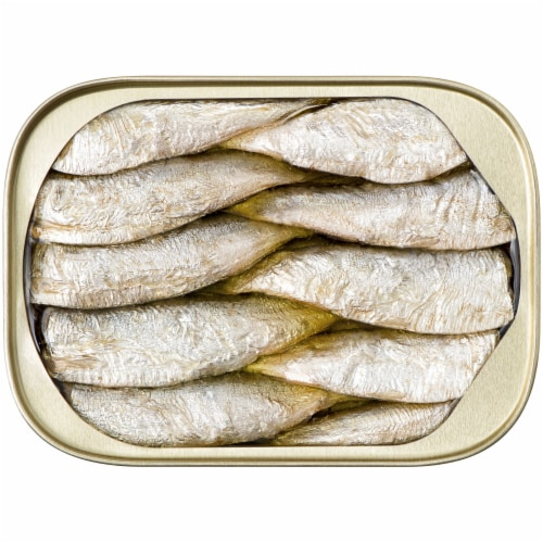 King Oscar Wild Caught Sardines in Extra Virgin Olive Oil Perspective: top
