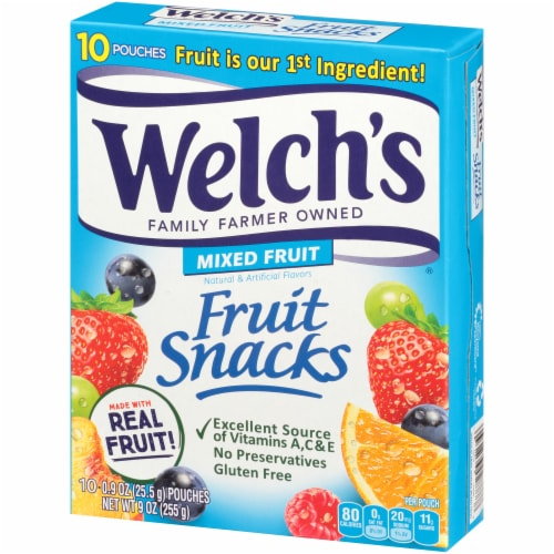 Welch's Mixed Fruit Fruit Snacks 10 Count Perspective: top