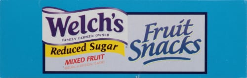 Welch's Reduced Sugar Mixed Fruit Fruit Snacks Perspective: top