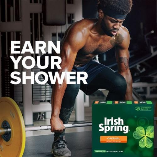 Irish Spring Original Scent Deodorant Bar Soap Perspective: top