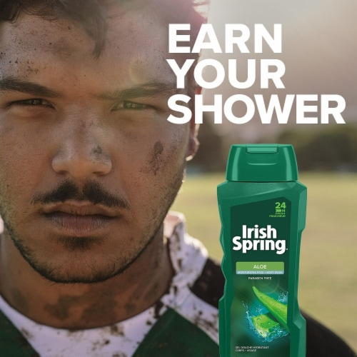Irish Spring 24 Hour Fresh Aloe Body Wash Perspective: top