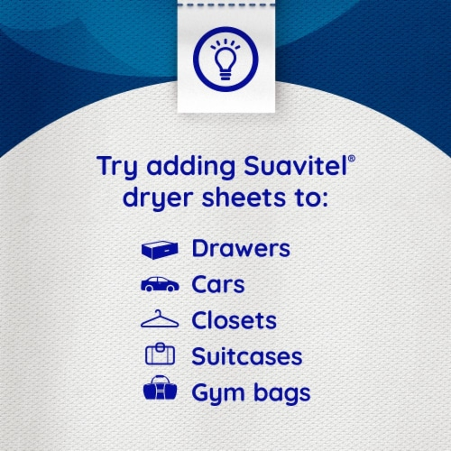 Suavitel Complete Morning Sun Fabric Softener Dryer Sheets Perspective: top