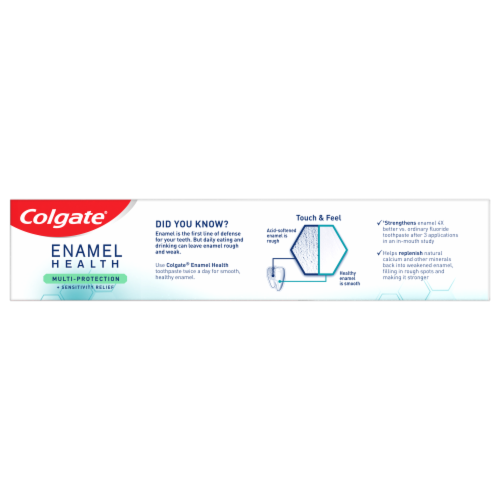 Colgate Enamel Health Cool Mint Multi-Protection Toothpaste Perspective: top