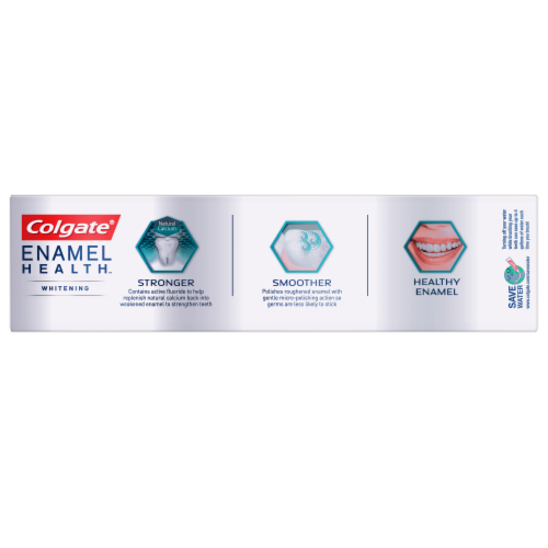 Colgate Enamel Health Clean Mint Whitening Toothpaste Perspective: top