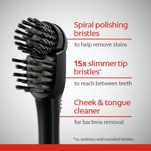 Colgate 360 Advanced Charcoal Battery Powered Toothbrush Perspective: top
