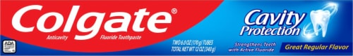 Colgate® Cavity Protection Regular Flavor Toothpaste Perspective: top