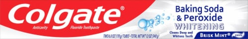 Colgate® Baking Soda & Peroxide Brisk Mint Whitening Toothpaste Perspective: top