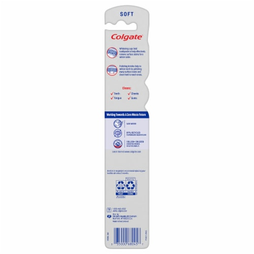 Colgate® 360® Optic White® Soft Manual Whitening Toothbrush Perspective: top