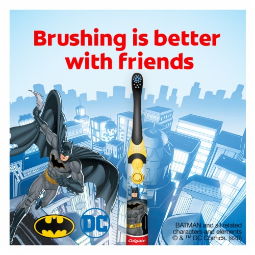 Colgate Kids Batman Battery Operated Toothbrush Perspective: top