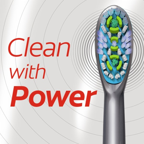 Colgate 360 Floss-Tip Soft Bristle Battery Sonic Powered Toothbrush Perspective: top
