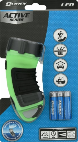 Dorcy 3 LED Waterproof Flashlight with Carabiner Hook - Assorted Perspective: top