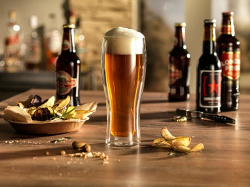 ZWILLING Sorrento 2-pc Double-Wall Beer Glass Set Perspective: top