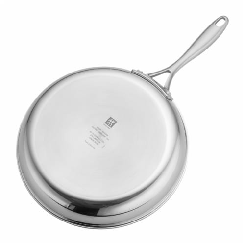 ZWILLING Clad CFX Stainless Steel Ceramic Nonstick Fry Pan Perspective: top