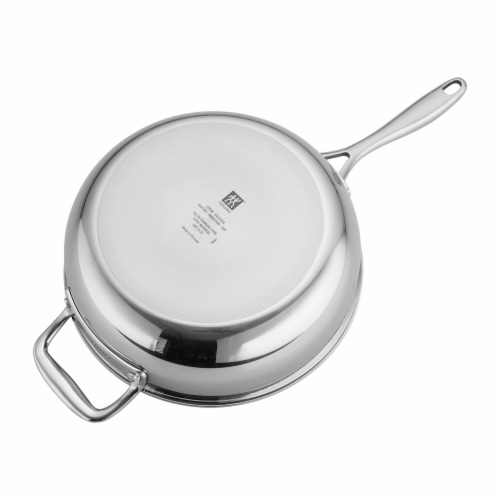 ZWILLING Clad CFX 4.5-qt Stainless Steel Ceramic Nonstick Perfect Pan Perspective: top