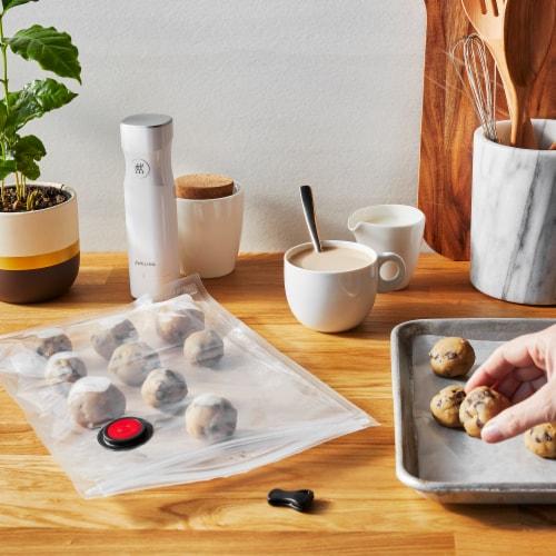 ZWILLING Fresh & Save 10-pc Vacuum Sealer Bags, Sous Vide Bags, Meal Prep - Medium Perspective: top