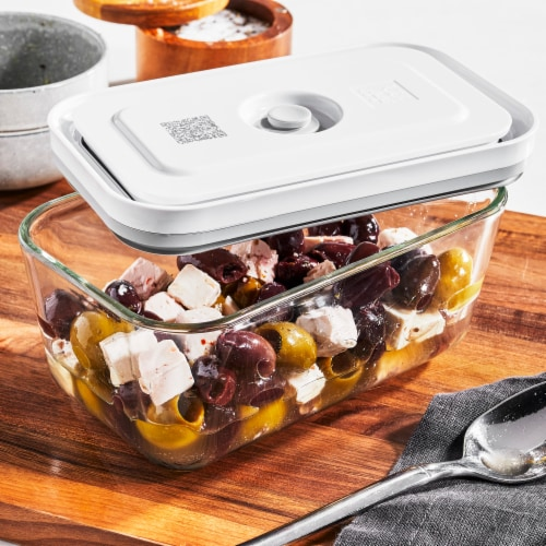 ZWILLING Fresh & Save Glass Airtight Food Storage Container, Meal Prep Container - Medium Perspective: top