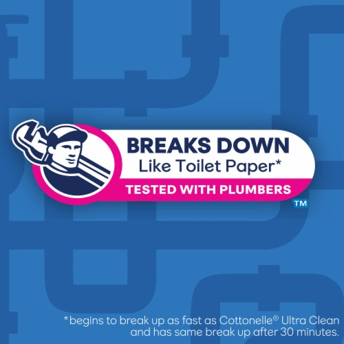 Cottonelle Flushable Wet Wipes Refill Pack Perspective: top