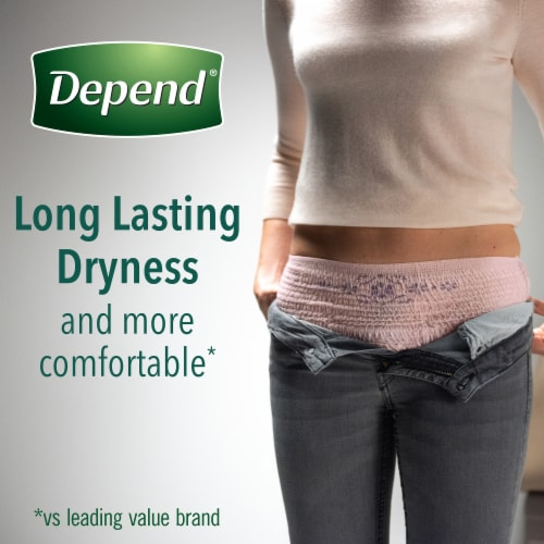 Depend FIT-FLEX Maximum Absorbency Large Incontinence Underwear for Women Perspective: top