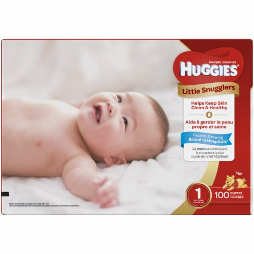 Huggies Size 1 Little Snugglers Diapers Perspective: top