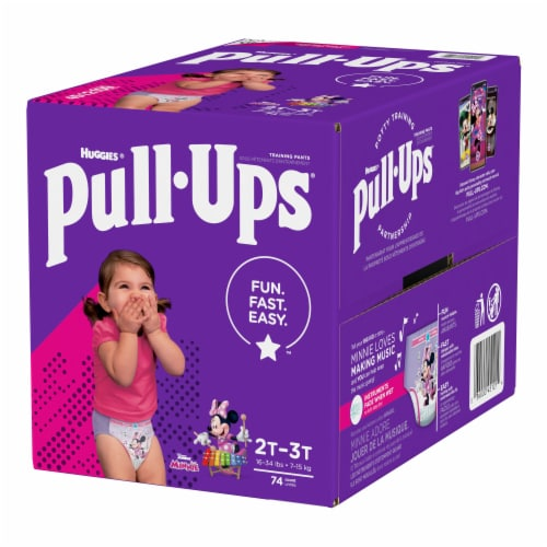 Pull-Ups Girls 2T-3T Training Pants Perspective: top