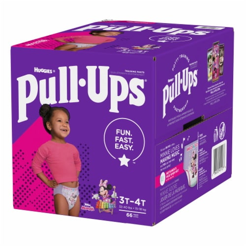 Pull-Ups Learning Designs Girls 3T-4T Training Pants Perspective: top
