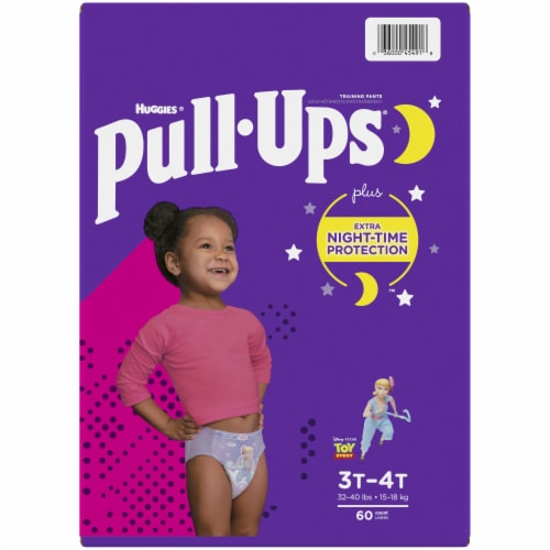Pull-Ups 3T-4T Girls Night Time Training Pants Perspective: top