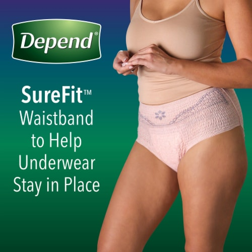Depend Night Defense Overnight Absorbency Large Incontinence Underwear for Women Perspective: top
