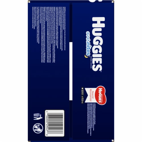 Huggies Overnites Size 4 Diapers Perspective: top