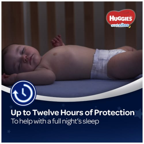 Huggies Overnites Nighttime Diapers Size 5 Perspective: top