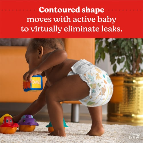 Huggies Little Movers Size 4 Baby Diapers Perspective: top