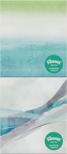 Kleenex Soothing Lotion Facial Tissues Cube Boxes Perspective: top