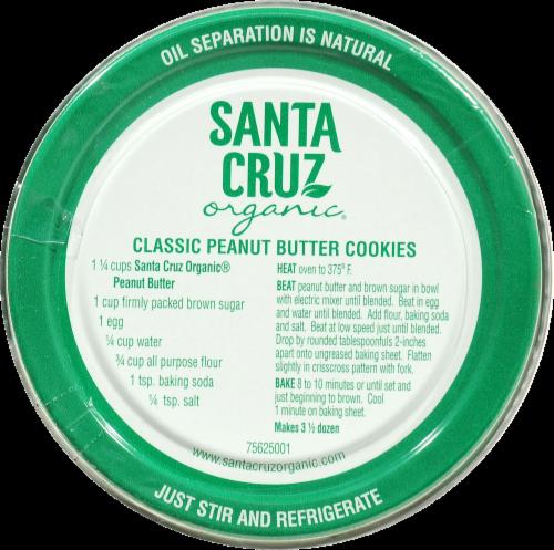 Santa Cruz Organic Dark Roasted Creamy Peanut Butter Perspective: top