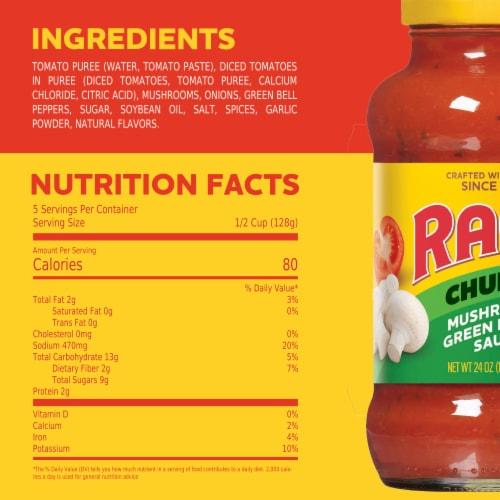 Ragu Chunky Mushroom & Green Pepper Sauce Perspective: top