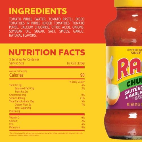 Ragu Chunky Sauteed Onion & Garlic Sauce Perspective: top
