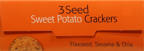 R.W. Garcia 3 Seed Sweet Potato Crackers Perspective: top