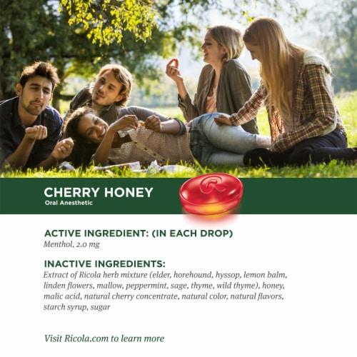 Ricola Cherry Honey Herb Throat Drops Perspective: top