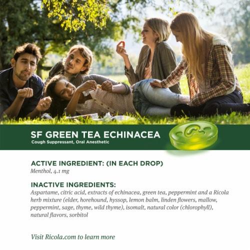 Ricola Sugar Free Green Tea Throat Drops Perspective: top