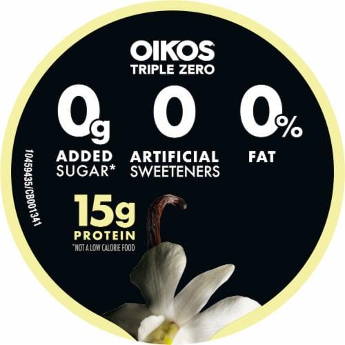 Oikos Triple Zero Vanilla Blended Greek Yogurt Perspective: top
