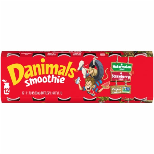 Danimals Strawberry Explosion & Wild Watermelon Smoothies Variety Pack Perspective: top