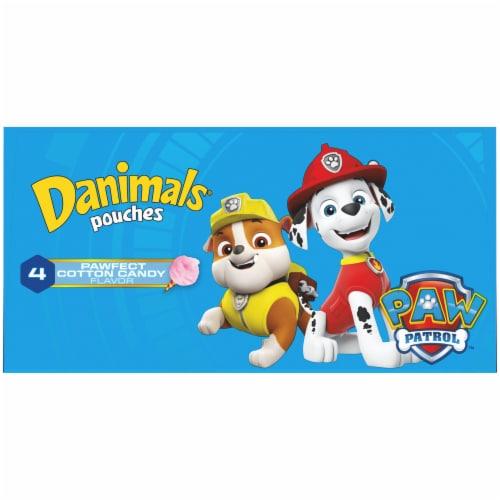 Danimals Squeezables Paw Patrol Cotton Candy Flavor Lowfat Yogurt Pouches Perspective: top
