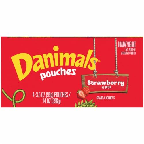 Danimals® Strawberry Lowfat Yogurt Pouches Perspective: top