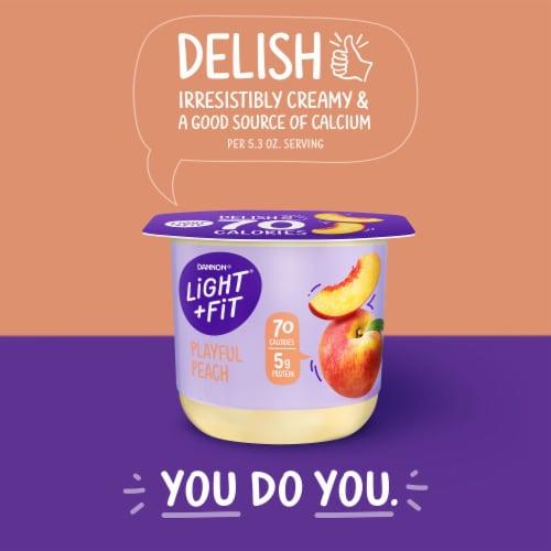 Dannon® Light & Fit Playful Peach Nonfat Yogurt Perspective: top