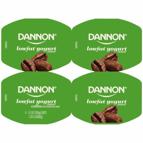 Dannon® Coffee Flavored Lowfat Yogurt Perspective: top