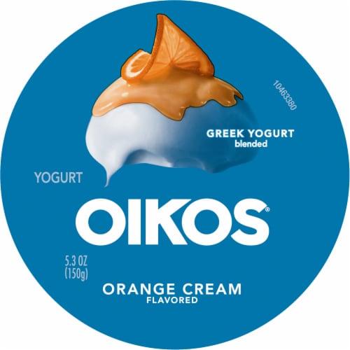 Oikos® Orange Cream Blended Greek Yogurt Perspective: top