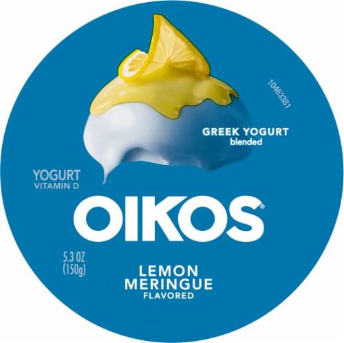 Oikos® Lemon Meringue Blended Greek Yogurt Perspective: top