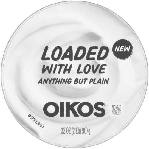 Oikos® Anything But Plain Nonfat Blended Greek Yogurt Perspective: top