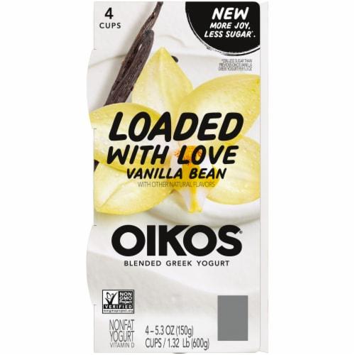 Oikos® Vanilla Bean Blended Greek Yogurt Perspective: top