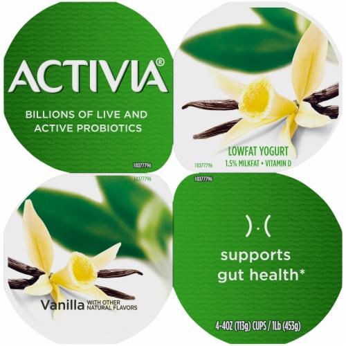 Activia Vanilla Probiotic Lowfat Yogurt Perspective: top